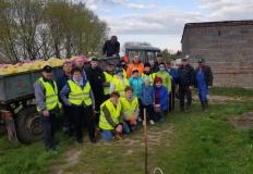 Sławsk. 40 osób sprzątało brzeg Warty i zbiornika małej retencji