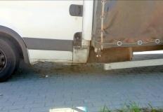 Konin. Samochód ze złamaną ramą zatrzymany w punkcie wagowym