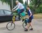 Jedzie ze Słowacji na Hel. Po drodze rowerzysta odwiedził Rychwał