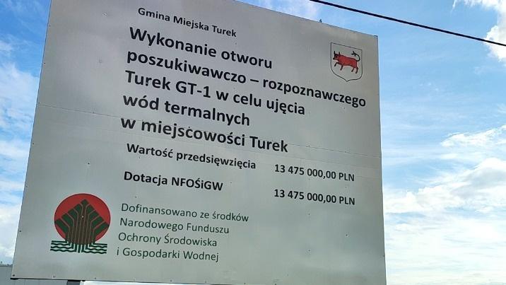 Turek zdobył środki na odwiert i budowę ciepłowni geotermalnej