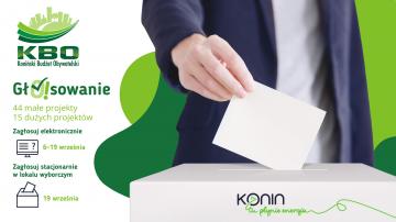 Koniński Budżet Obywatelski. Ostatni dzwonek, żeby zagłosować!