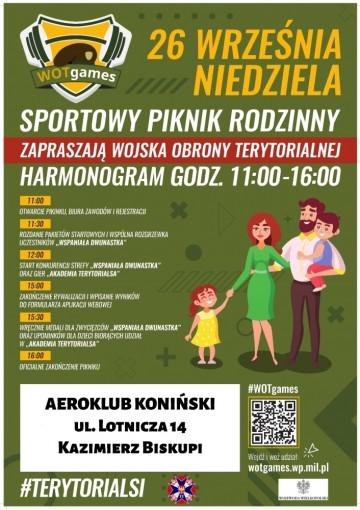 WOTgames – terytorialsi zapraszają na rodzinny piknik sportowy w Kazimierzu Biskupim