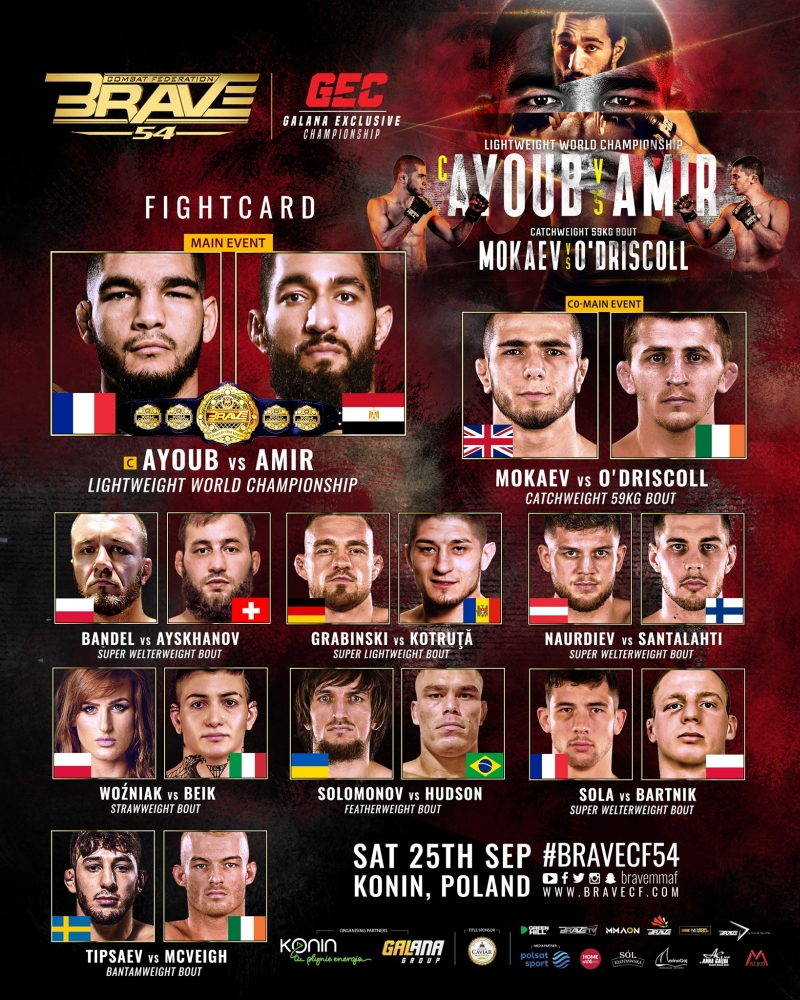 Gwiazdy MMA już w sobotę zmierzą się w Koninie. Będzie dziewięć walk