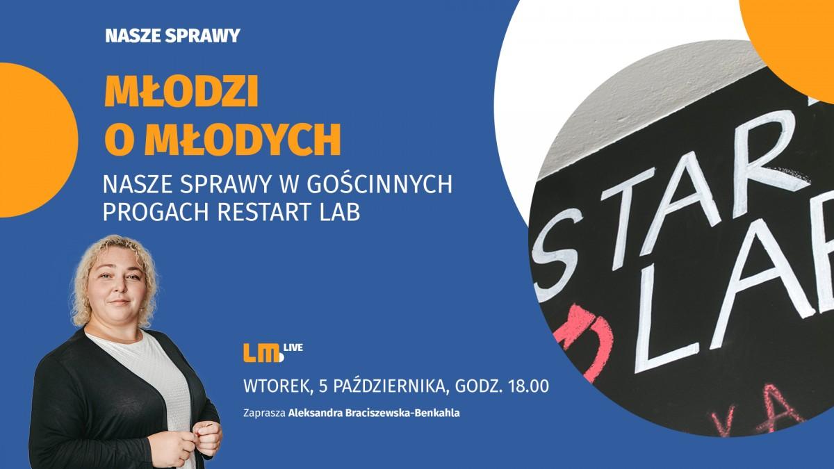 Wyjazdowe studio LM.pl u młodych w Restart Labie