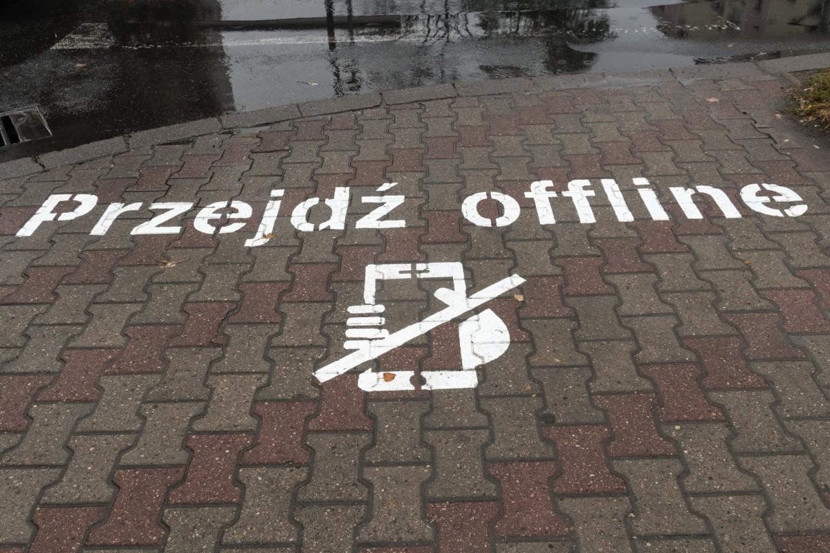 Konin. Nie należy używać telefonu komórkowego na przejściu dla pieszych
