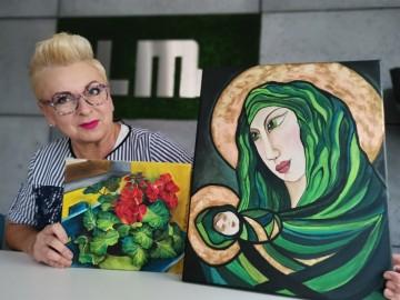 Taka kolorowa Beata Włodara i jej malarstwo od serca