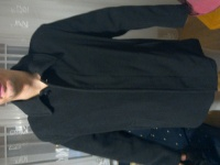Czarny męski płaszcz. Nowy