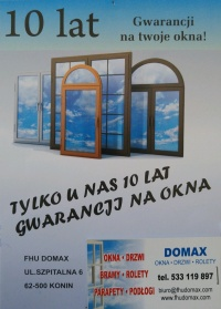 FHU DOMAX- OKNA ENERGOOSZCZĘDNE