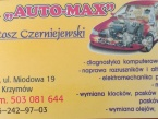 AUTO-MAX WARSZTAT SAMOCHODOWY KOMPLEKSOWA OBSLUGA