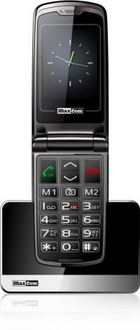 Nowy Telefon komórkowy Maxcom MM822BB Czarny KLAPKA 24M-CEGW