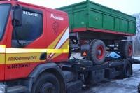 Transport ciągników maszyn rolniczych, ładowarek