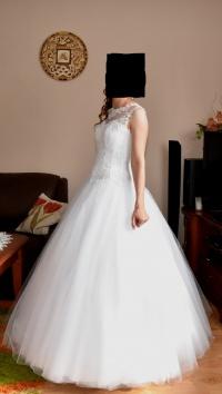 sprzedam białą suknie ślubną typu princeska