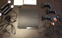 SONY PLAYSTATION PS3 SLIM 320GB 3xPAD 3xMOVE KAMERA 12 GIER!