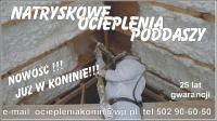 NOWOŚĆ  ocieplanie poddaszy pianą poliuretanową !!