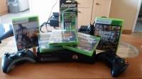 Xbox 360 500GB +2 pady +nowe akumulatory + 5 gier (GTA V)