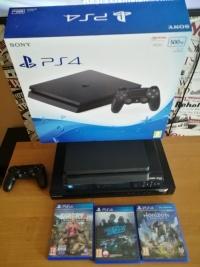 Sony PlayStation 4 PS4 500gb 3 gry gwarancja