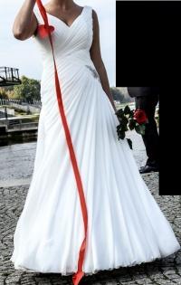 Sprzedam suknie ślubną z muślinu, okazja 599zł