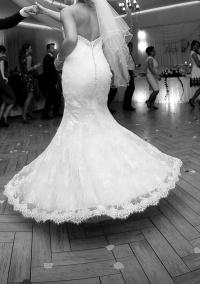 suknia syrenka + sukienka na poprawiny