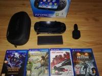 PsVita + 8 gb + oryginalne akcesoria od Sony + 10 gier