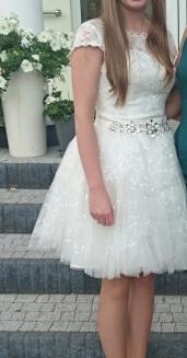Suknia ślubna krótka 38
