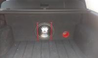 Subwoofer JBL, wzmacniacz Mac Audio, zabudowa passat b5