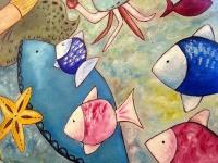 Obraz olejny ręcznie malowany na płótnie w stylu mural