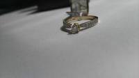 14-kararowe złoto pierścionek zaręczynowy - Rozmiar 14
