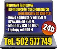 POGOTOWIE KOMPUTEROWE 24/h. Dojazd do klienta! tel.502577749