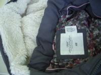 kurtkę cieplutą dla dziewczynki na 146-szara-5 zł