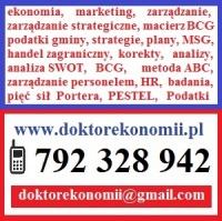 Doktor ekonomii pomoże poprawi zredaguje prace ekonomiczne