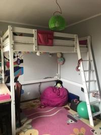 Podwójne łóżko + materac (antresola) 700 zł