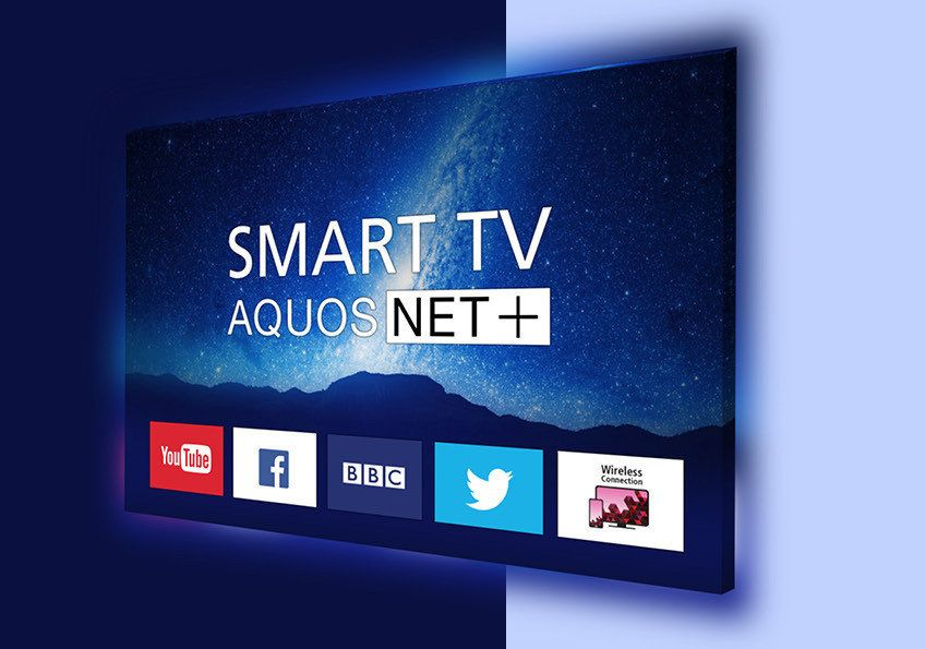 how to connect sharp smart tv to internet