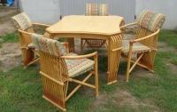 stół rozkładany i 4 krzesła - meble holenderskie