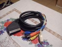 Kabel  EURO SCART 6RCA 6-RCA chinch 1,5m
