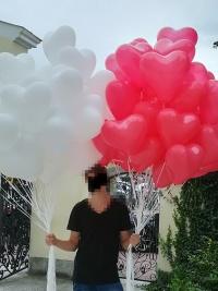 Balony z helem led ledowe gigant olbrzym dla młodej pary hel