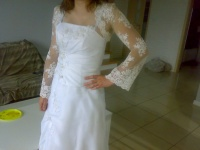 suknia ślubna s/m+gratis