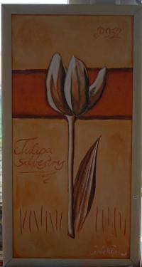 Obraz Kwiat handcraft