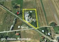 Stacja paliw z budynkami - powiat Turek, gm Dobra - DK 83