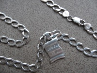 Łańcuszek srebrny z zawieszką 41,6 g próba 925