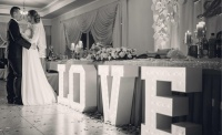 Podświetlany napis LOVE oraz MĄŻ I ŻONA