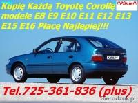 Kupię Toyotę Corollę E9 E10 E11 E12 E13 E15 Carinę I lub II