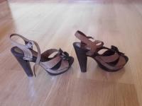 skórzane buty na koturnie