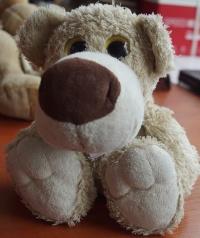 Pluszak Pies Biały o Dużych Oczach
