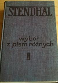Ksiazki  Stendhal wybor z pism roznych