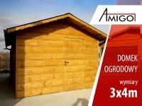 Domek ogrodowy altana garaż drewniany domek na działkę 3x4