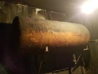 Bojler długość ok 120 cm średnica ok 50cm uszkodzony