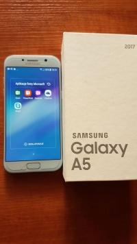 Błekitny samsung Galaxy A5 2107, komplet