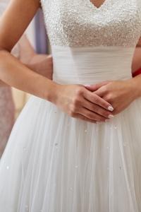 Suknia ślubna w kolorze śmietankowym