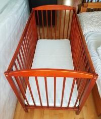 Łóżeczko dziecięce 120 x 60 z 3 stopniową regulacją wysokośc