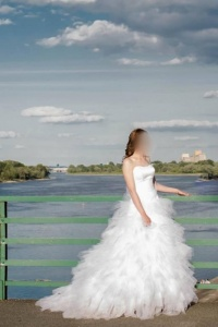 Suknia ślubna ELIZABETH z odpinanym dołem
